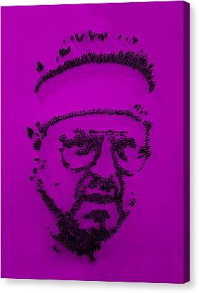 Walter Sobchak Nailed Purple Canvas Print by Rob Hans