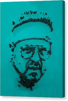 Walter Sobchak Nailed Turquoise Canvas Print by Rob Hans