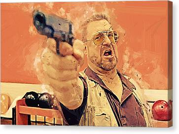 Walter Sobchak - The Big Lebowski Canvas Print by Afterdarkness