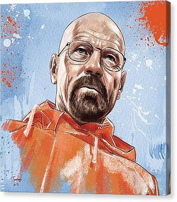 Portraits Canvas Print - Walter White by Tony Santiago