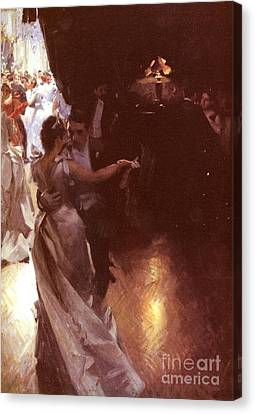 Waltz Canvas Print by Anders Zorn