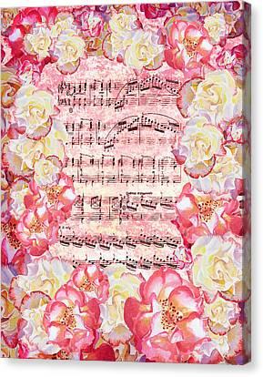 Waltz Of The Flowers Sweet Roses Canvas Print by Irina Sztukowski