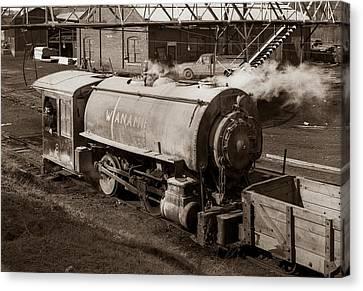 Wanamie Pennsylvania Coal Mine Locomotive Lokey 1969... Canvas Print