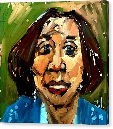 Canvas Print featuring the digital art Wanda by Jim Vance