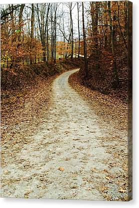 Southern Indiana Autumn Canvas Print - Wandering Road by Russell Keating