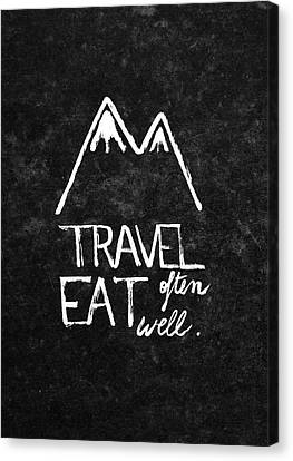 Eat Canvas Print - Wanderlust by Studio Sananikone