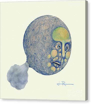 Waning Moon Canvas Print by Jim Rehlin
