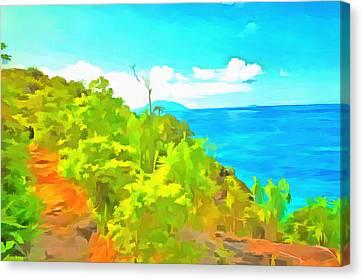 Greenery Canvas Print - Want To Visit Here by Ashish Agarwal