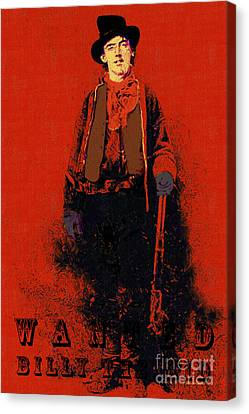 Wanted Billy The Kid 20130211gm180 Canvas Print by Wingsdomain Art and Photography
