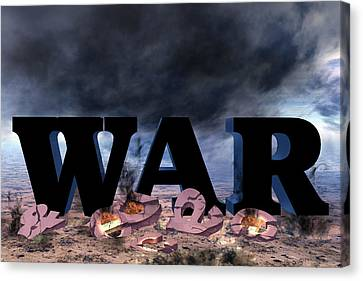War And Peace Canvas Print by David Griffith