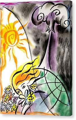 War And Peace Canvas Print by Leon Zernitsky