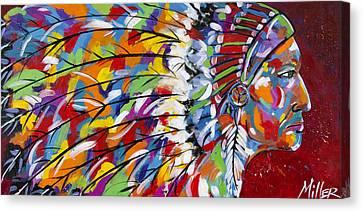 War Bonnet Canvas Print by Tracy Miller