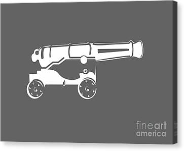 War Cannon Canvas Print by Frederick Holiday