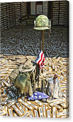War Dogs Sacrifice Canvas Print by Carolyn Marshall