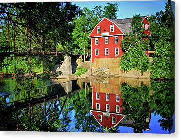 Scenic Drive Canvas Print - War Eagle Mill And Bridge - Arkansas by Gregory Ballos