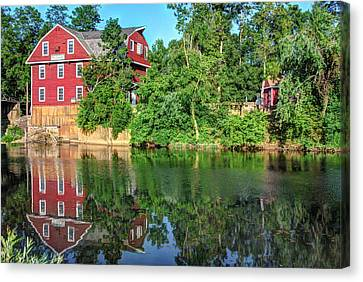 War Eagle Mill On The River - Northwest Arkansas Canvas Print by Gregory Ballos