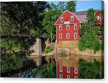War Eagle Mill Perfect Reflection - Northwest Arkansas Canvas Print