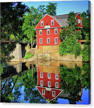 War Eagle Mill Reflection - Northwest Arkansas Canvas Print