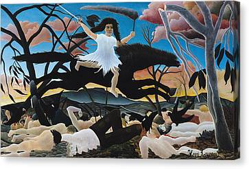 War Canvas Print by Henri Rousseau