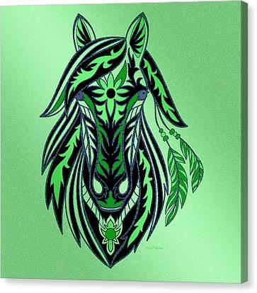 Shower Head Canvas Print - War Horse 2 by Ericamaxine Price