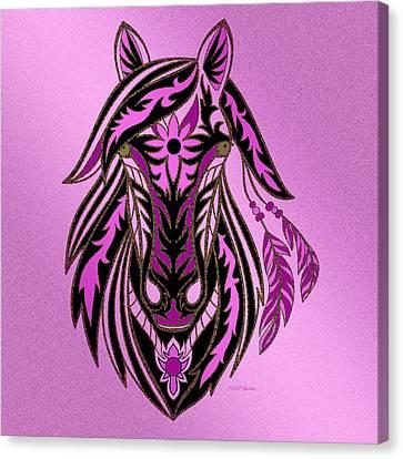Shower Head Canvas Print - War Horse by Ericamaxine Price