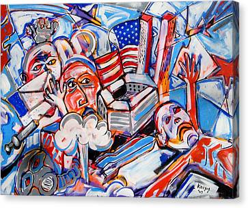 War Is Raw Canvas Print by Rollin Kocsis