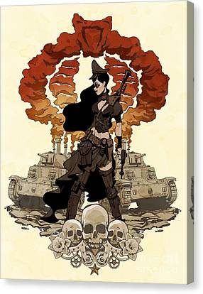 War Maiden Canvas Print by Brian Kesinger
