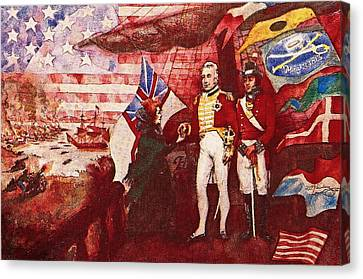 War Of 1812 Canvas Print by Dean Gleisberg