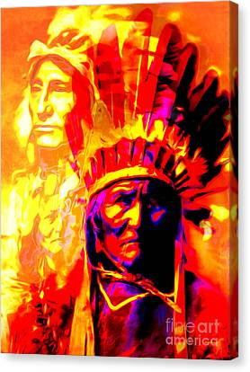 War Path The Warrior Chiefs Final Stand 20151228 Canvas Print