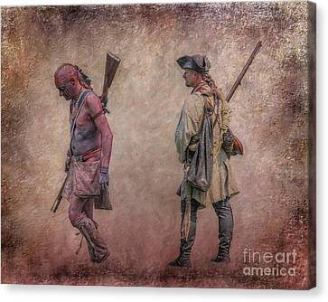 Colonial Man Canvas Print - War Trail French And Indian War by Randy Steele