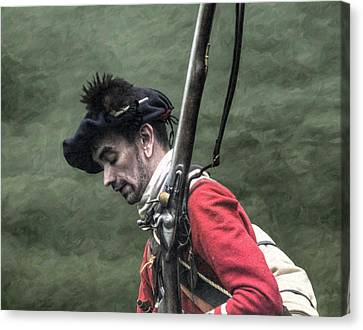 War Weary French And Indian War Portrait Canvas Print by Randy Steele
