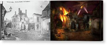 Canvas Print featuring the photograph War - Wwi -  Not Fit For Man Or Beast 1910 - Side By Side by Mike Savad
