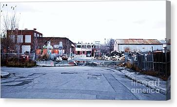 War Zone 3 Montreal Canvas Print by Reb Frost