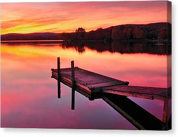 Waramaug Sunset Canvas Print by Thomas Schoeller