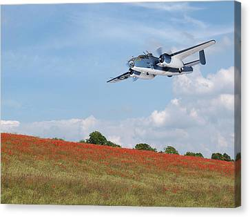 Warbird Returns Canvas Print by Gill Billington