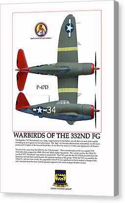 Warbirds Of The 332nd Fg Canvas Print by Jerry Taliaferro