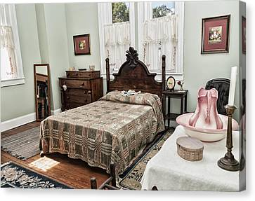 Canvas Print featuring the photograph Wardens Bedroom by Linda Constant