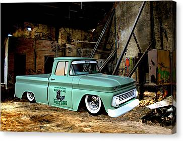 Warehouse Pickup Canvas Print by Steven Agius