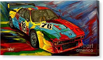 Warhol Bmw M1 Canvas Print by Jose Mendez