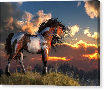 Remington Canvas Print - Warhorse by Daniel Eskridge