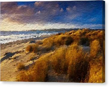 Warm Beach Day Abstract Canvas Print