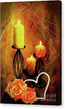 Warm Candlelight Canvas Print by KaFra Art