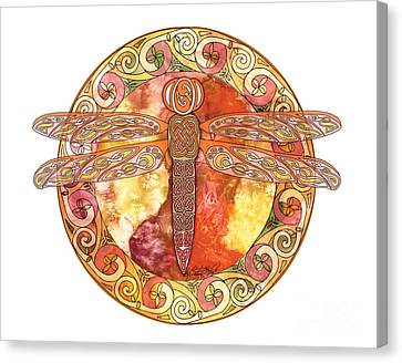 Warm Celtic Dragonfly Canvas Print