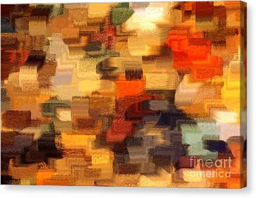 Warm Colors Abstract Canvas Print by Carol Groenen