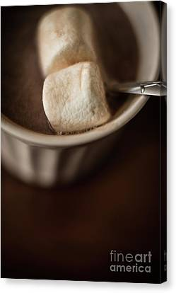 Warm Hot Coco And Marshmallows Canvas Print by Taylor Martinsen