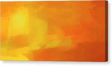 Canvas Print featuring the digital art Warm Moment by John Hansen