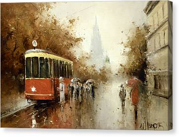 Warm Moscow Autumn Of 1953 Canvas Print by Igor Medvedev