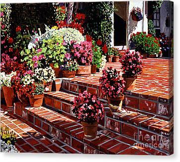 Warm Patio Canvas Print by David Lloyd Glover