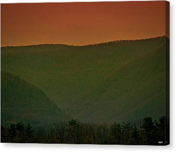 Warm Spring Mountains Canvas Print