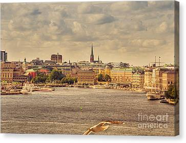Warm Stockholm View Canvas Print